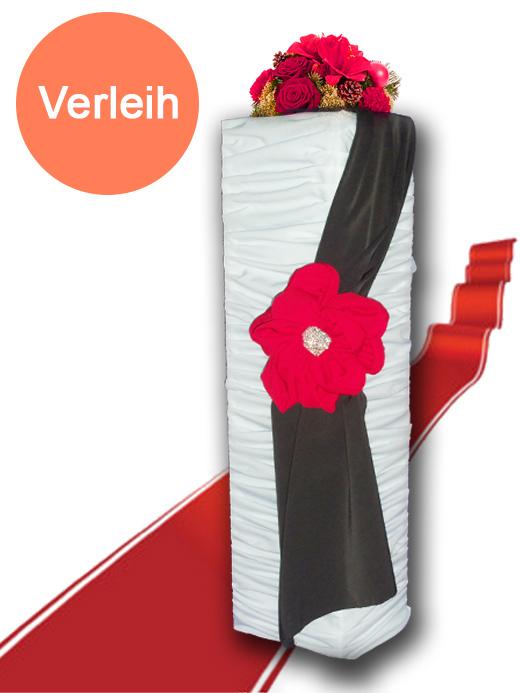 Alu s ule mit stoff bezogen ca 100 cm hoch for Hochzeit verleih